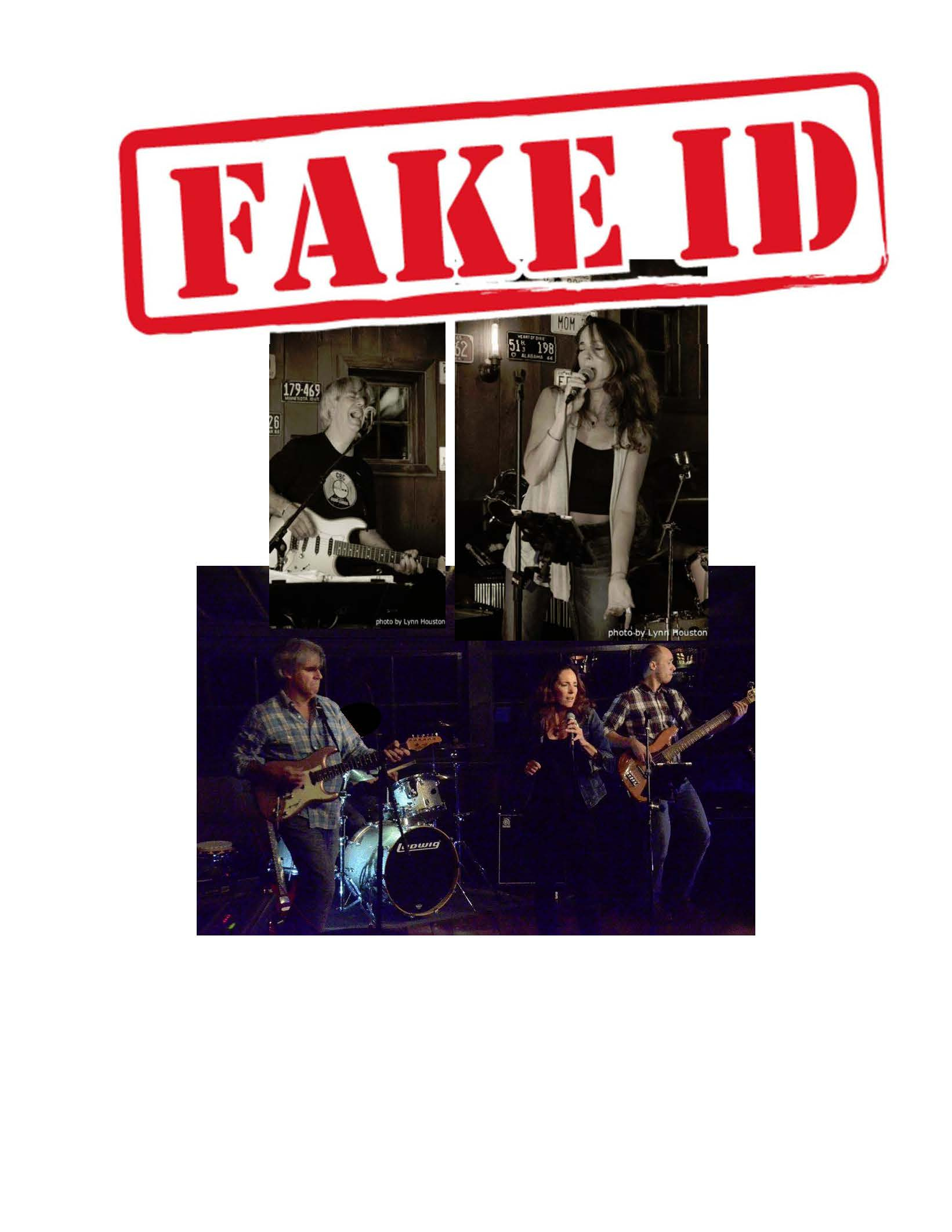 fake id montage with logo